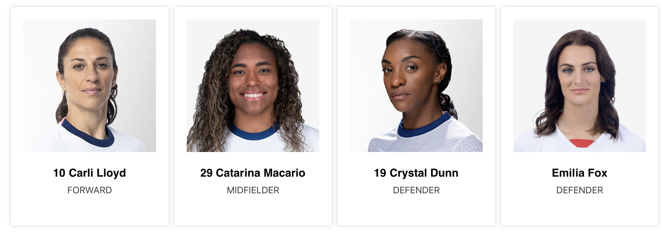 USWNT 2021 Roster